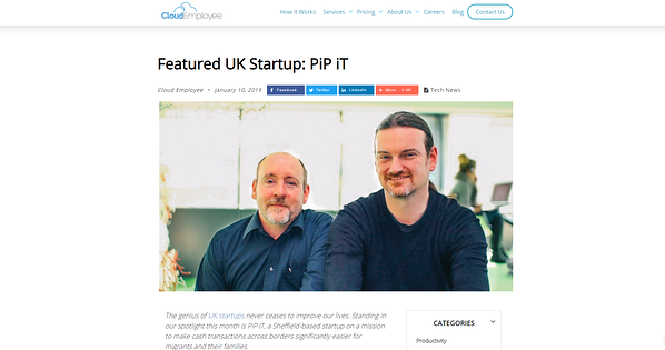 PiP iT Global News - PiP IT Global Featured In CloudEmployee Blog