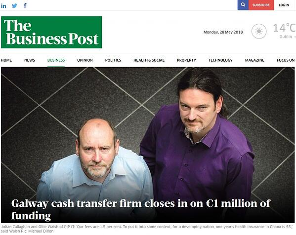 PiP iT Global News - PiP IT On Sunday Business Post