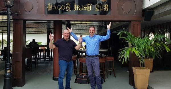 PiP iT Global Blog - PiP IT Global West Africa Tour - Ollie and John Lagos Irish Pub
