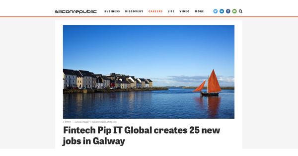 PiP iT Global News - PiP IT Global Featured In Silicon Republic