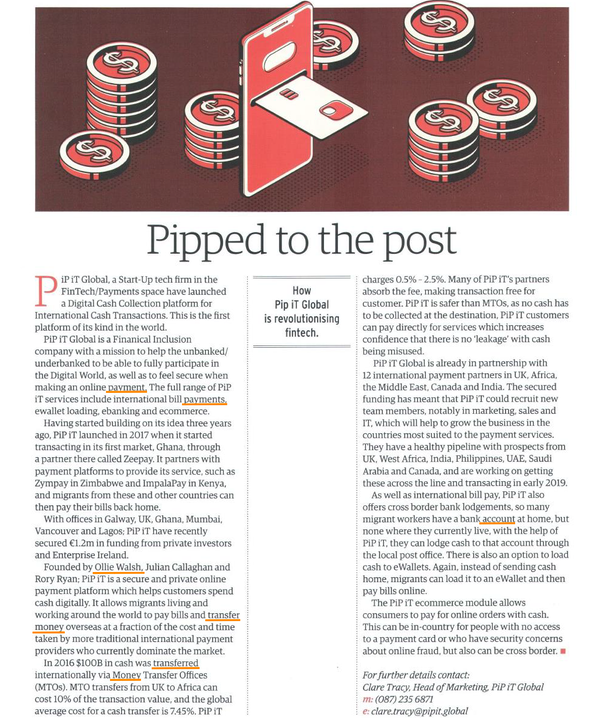 PiP iT Global News - PiP IT Global Featured In Business & Finance - Quarterly Review